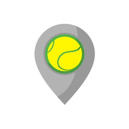 ball point: location point design with tennis ball draw