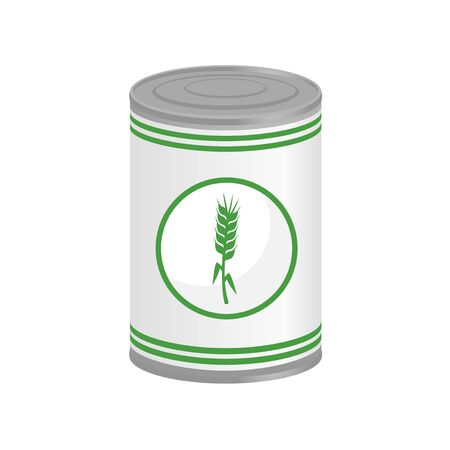 preserved: corn in preserved can Illustration