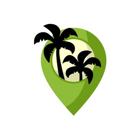 paradise beach location Ilustrace
