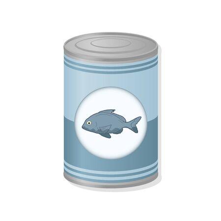 sardine can: fish metal can