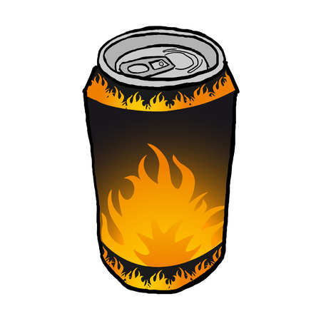 carbonated beverage: energy drink can