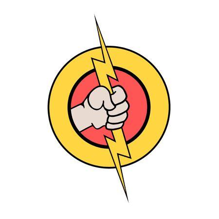 elektrische Energie Symbol Vektorgrafik