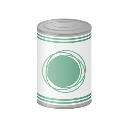 can food: metal can of preserved food