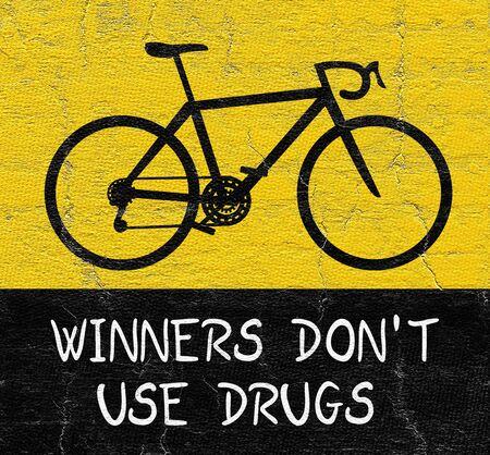 Sport no drug Stock Photo