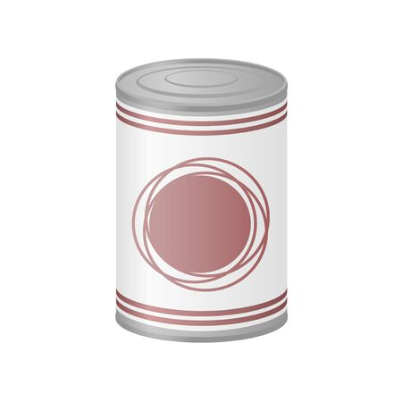 preserved: metal can of preserved food