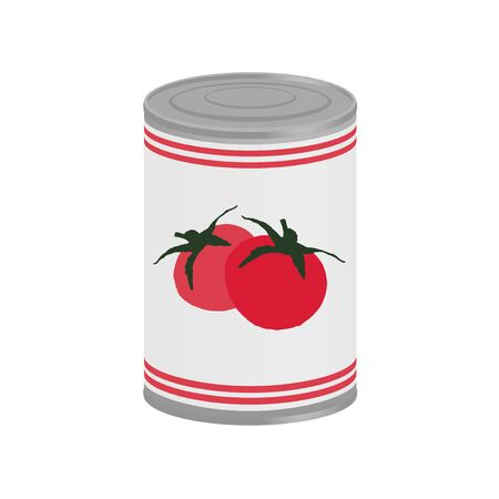 preserved: tomatoes in preserved can Illustration
