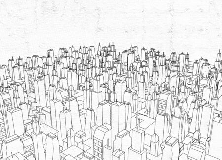 architecture: big city architecture Stock Photo