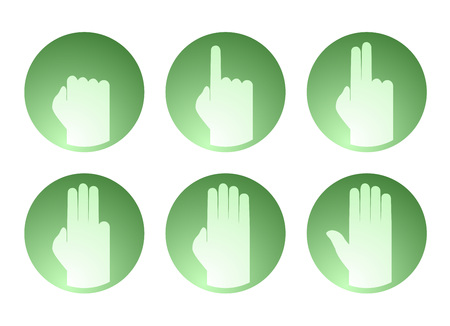 5.0: hands counting symbol Illustration