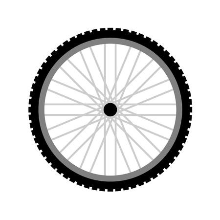 wheel bike Ilustração