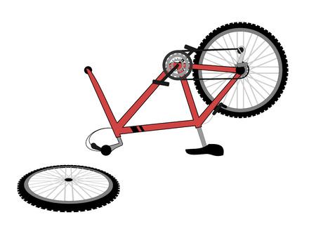 Gebrochenes fahrrad Vektorgrafik