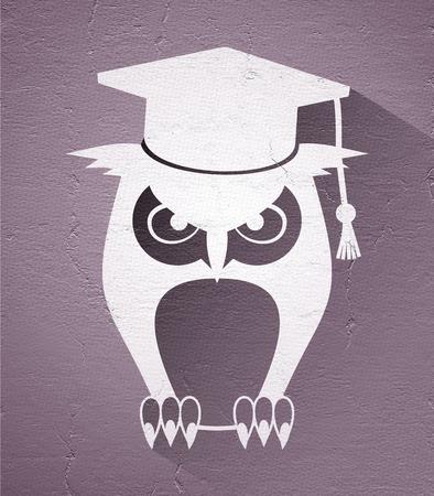 educative: student owl illustration