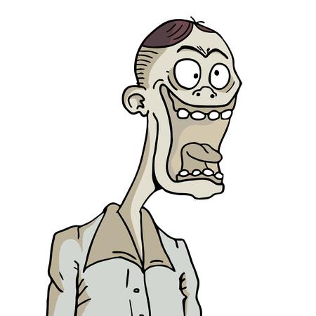 Funny man face illustration