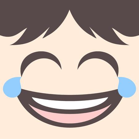 joking: joking face draw Illustration