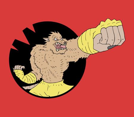 mutant: Mutant rat fighter Illustration