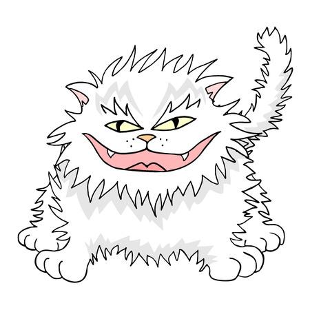 joking: funny white cat