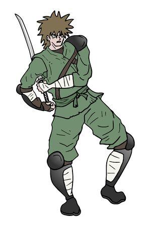 samurai warrior illustration