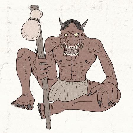 demon illustration Stock Photo
