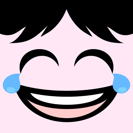 joking face draw Illustration