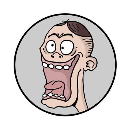 joking: Funny man face illustration