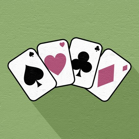 clubs diamonds: poker cards symbol