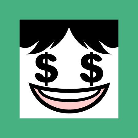 comerce: dollar face Illustration