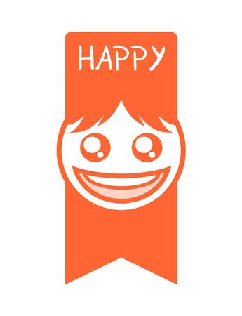 재미있는 행복한 얼굴 무승부