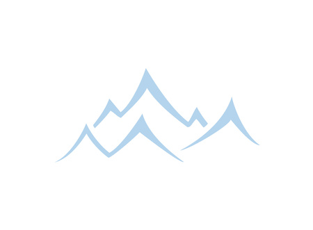 Mountain symbol isolated flat illustration graphic design