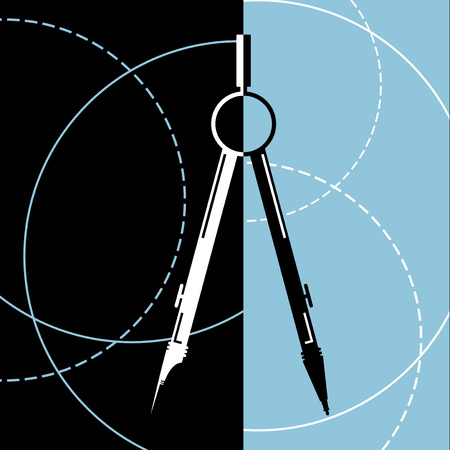 diameter: compass instrument illustration Illustration