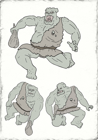 Creative mutant monster illustration Stock Photo