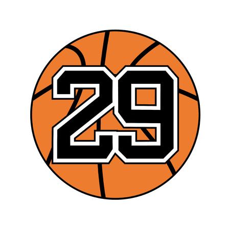 ball of basketball symbol with nubmer 29 Illustration