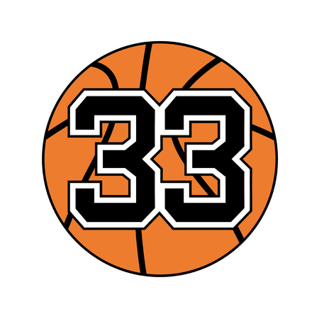ball of basketball symbol with number 33