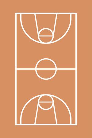 basketball court illustration Illustration