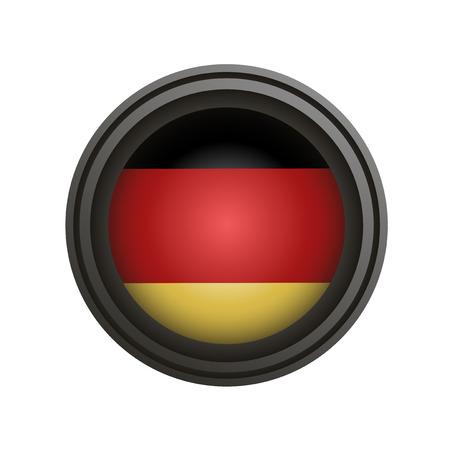 Duitse cirkelembleem Stockfoto - 79524835