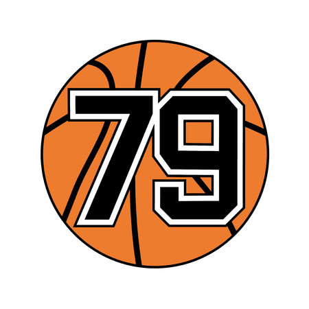 ball of basketball symbol with number 79