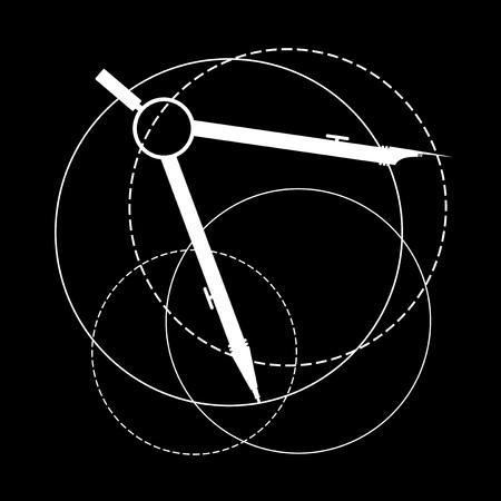 compass instrument illustration Illustration