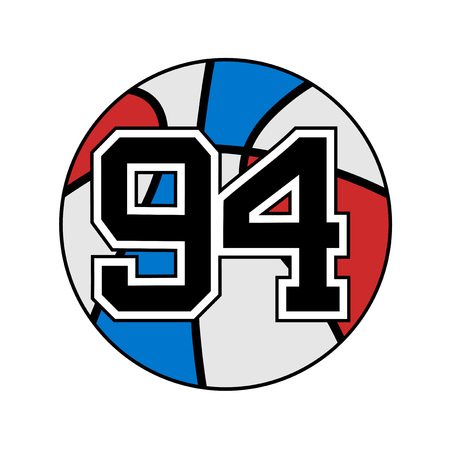 ball of basketball with the number 94 Illustration