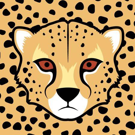 gepard: gepard face Illustration