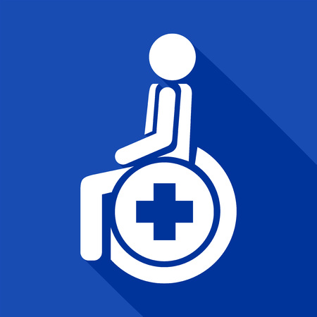 paraplegico: medical wheelchair icon
