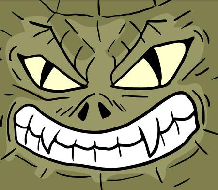 rebel reptile expression Illustration