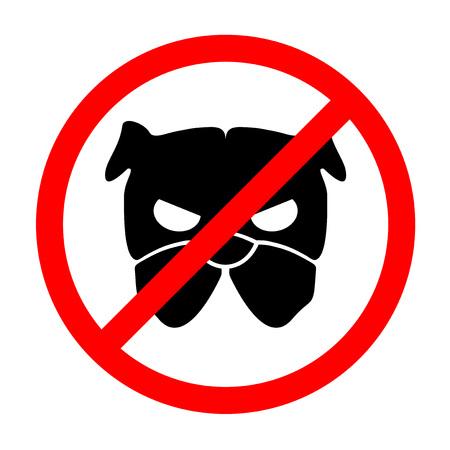 Pas de zone de chien Banque d'images - 80407095