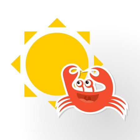 funny crab Illustration
