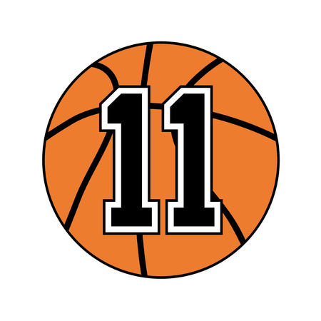 number eleven: basket ball symbol design