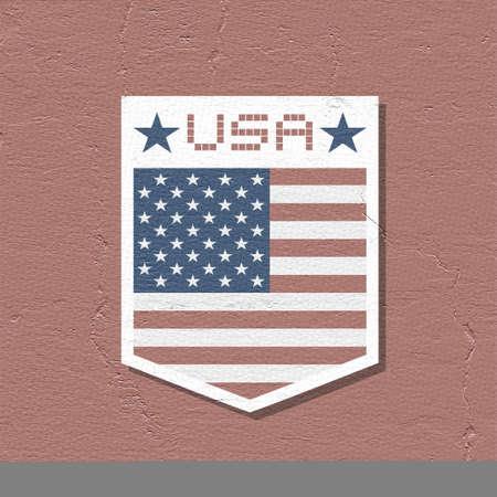 nationalism: United States emblem Stock Photo