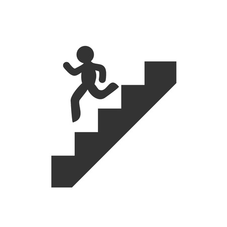 going down stairs symbol Illustration
