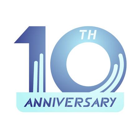 10th: 10th anniversary symbol
