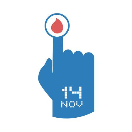 World day of diabetes icon.