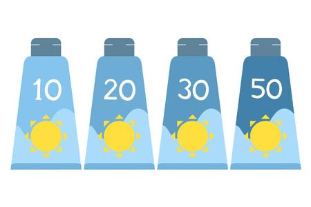 sun lotion: Sun protect bottle lotion Illustration