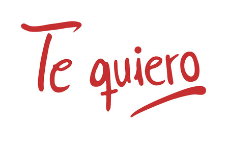 Je t'aime le message en espagnol Vecteurs