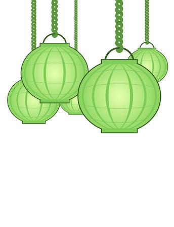 green lantern: Nice oriental lamp illustration