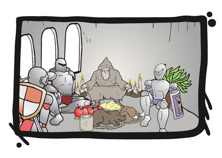 warriors: Medieval warriors eating